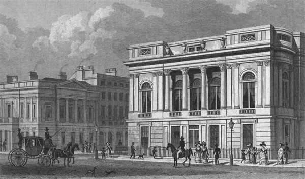 1828 – University Club House, Pall Mall, London