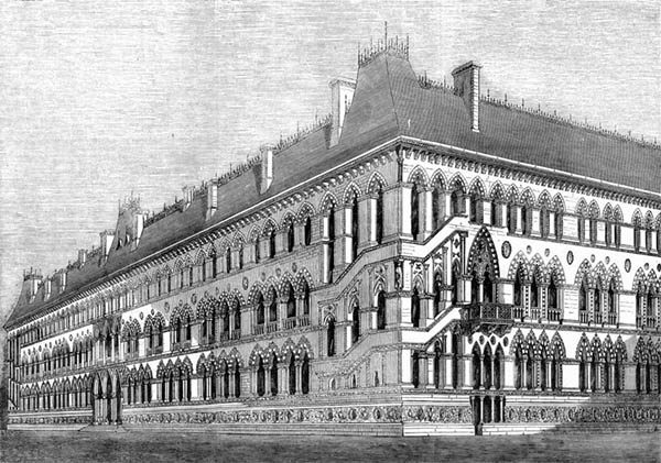1857 – Deane & Woodward Design for Foreign Office, London