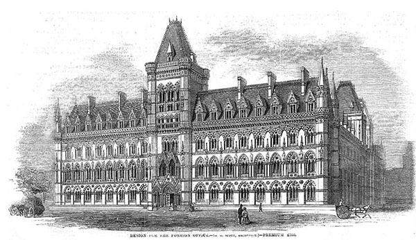 1858 – George Gilbert's Scott's design for Foreign Office, London