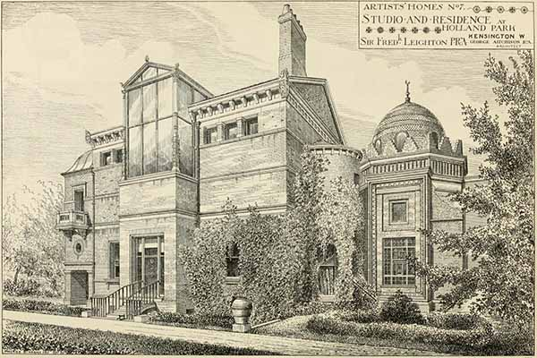 1880 – Studio and Residence, Holland Park, London