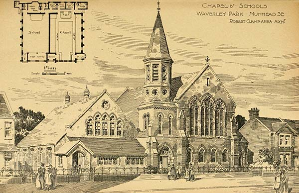 1898 – Wesleyan Church and School, Nunhead, London