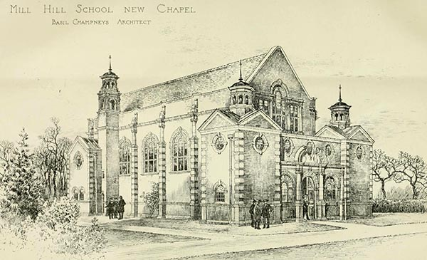 1898 – Chapel, Mill Hill School, London