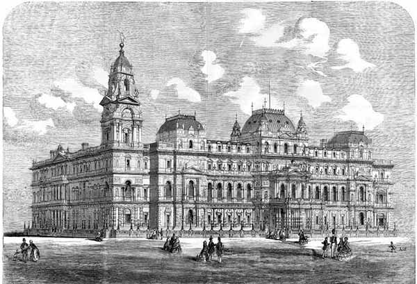 1857 – Unsuccessful Designs for Foreign & War Office, London