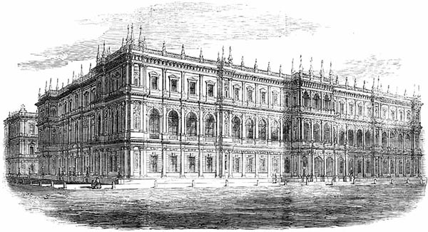 1857 unsuccessful designs for foreign war office london archiseek irish architecture - Foreign and colonial office ...