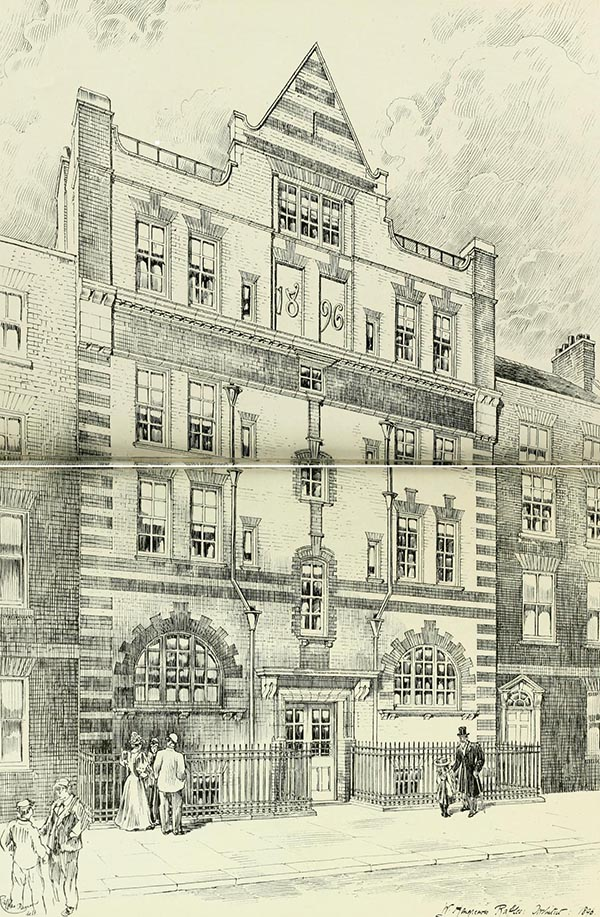 1896 – Premises, Gosfield St., London