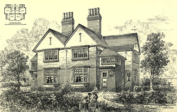 1881 – Cottages, Clapham Park, London