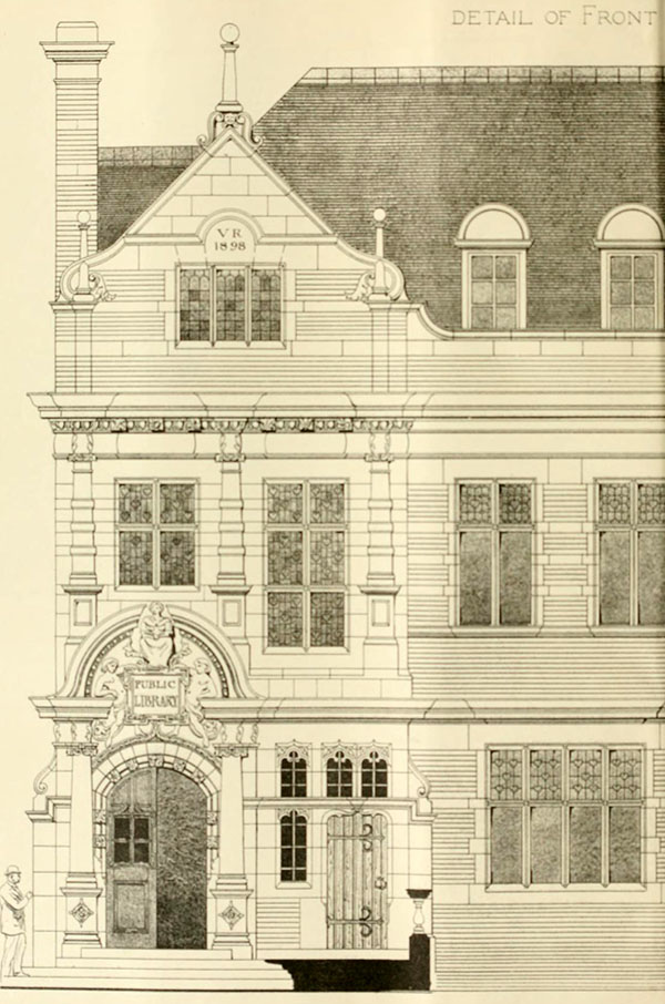 1898 – Design for Public Library, Putney, London