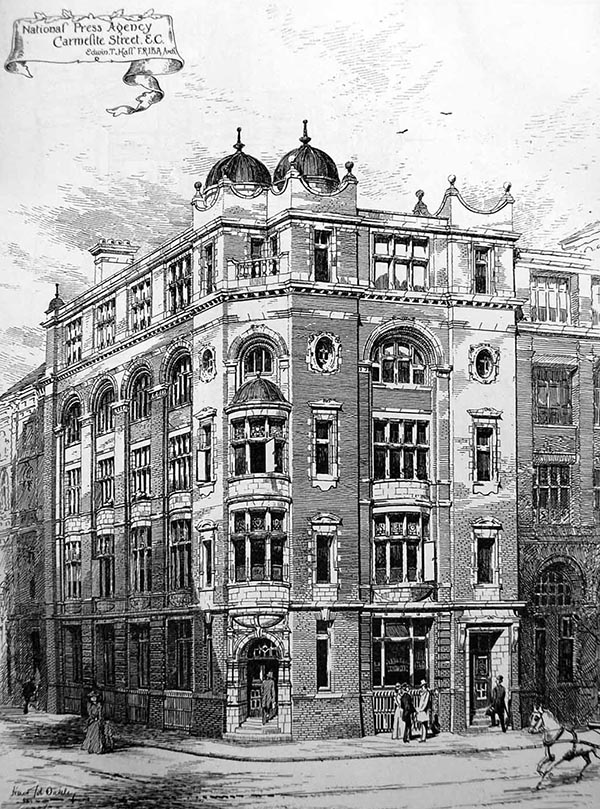 1897 – National Press Agency, Carmelite St., London
