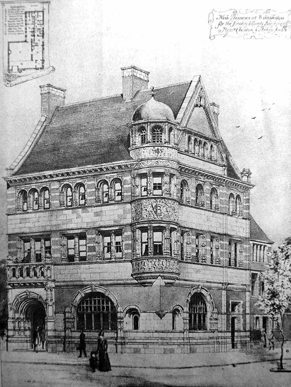 1895 – London & Counties Bank, Wimbledon, London