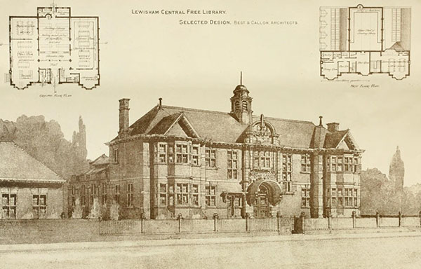 1898 – Design for Library, Lewisham, London