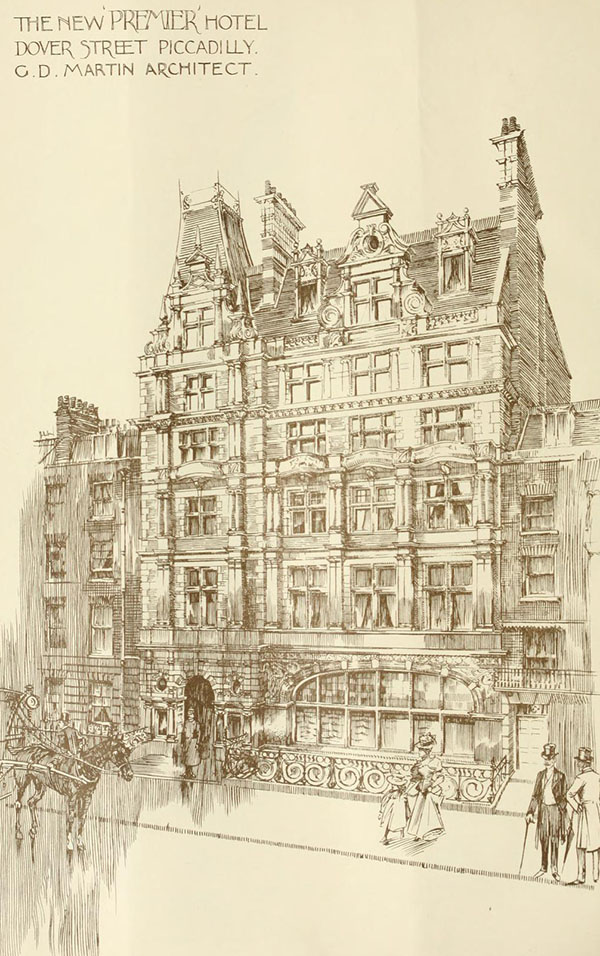 1898 – Hotel, Dover St., Piccadilly, London