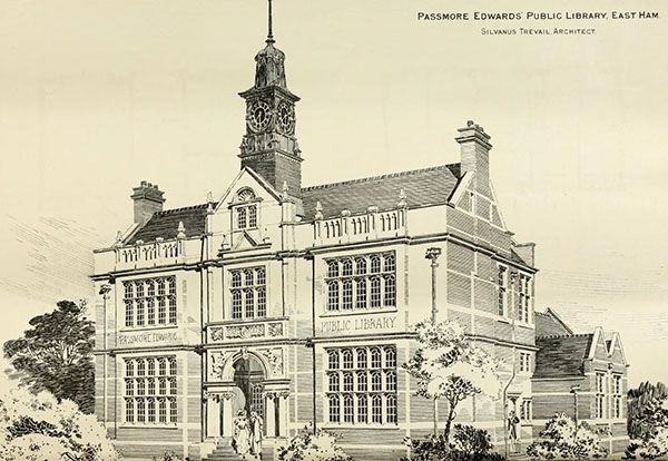 1898 – Passmore Edwards Public Library, East Ham, London