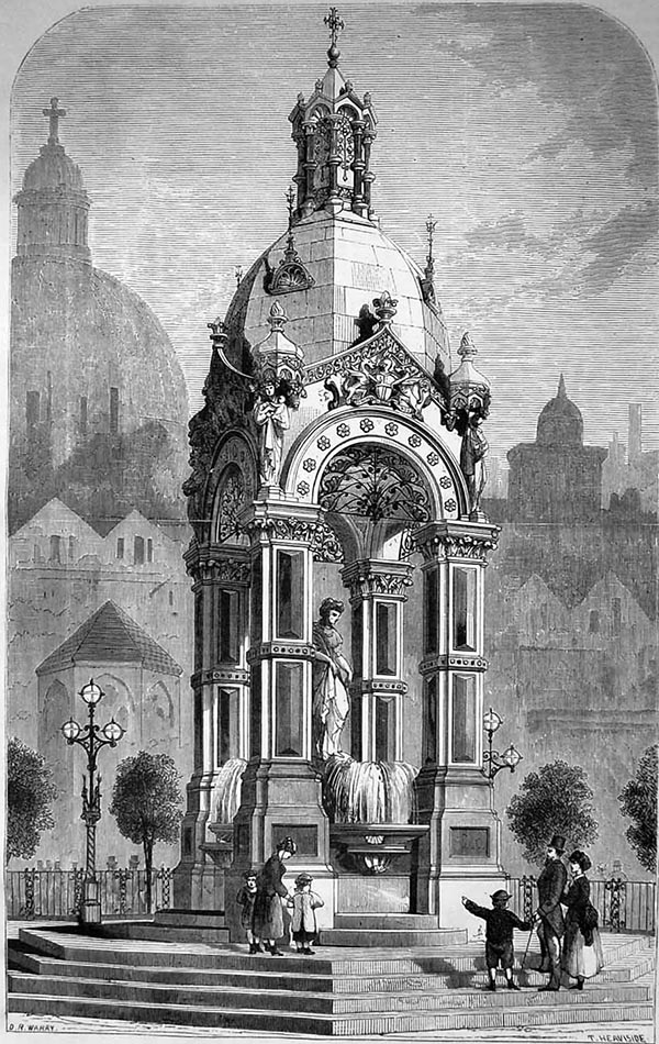 1871 – Proposed Drinking Fountain, Smithfield, London