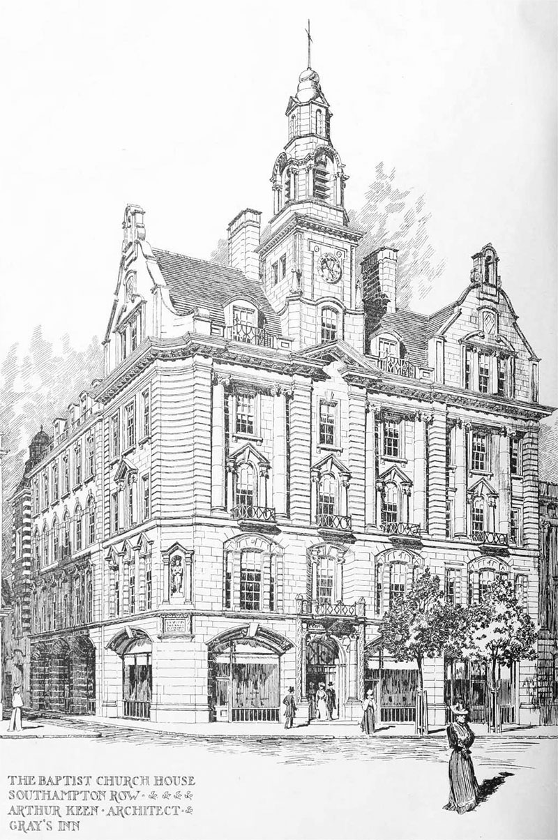1901 – Baptist Church House, Southampton Row, London