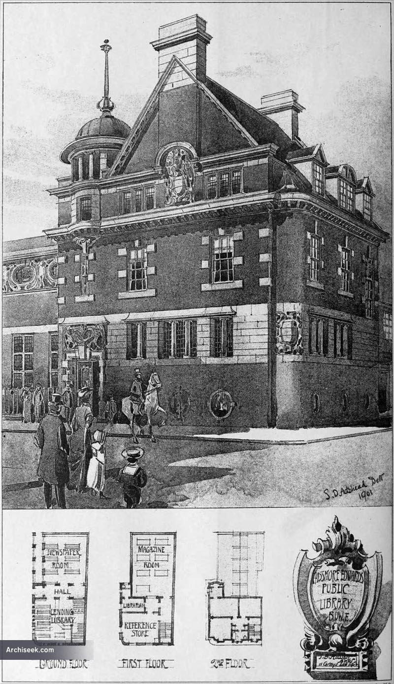 1901 – Passmore Edwards Library, Bow, London