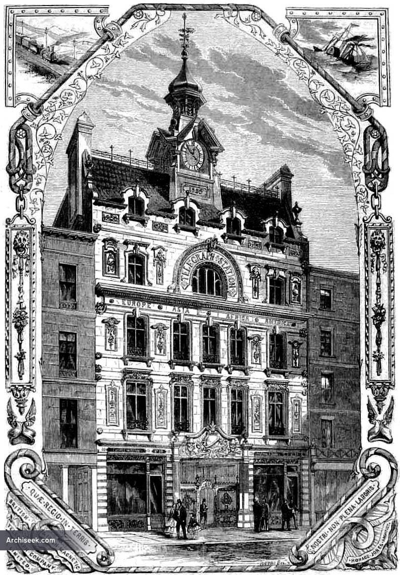 1858 – The British & Irish Magnetic Telegraph Company, 58 Threadneedle St., London