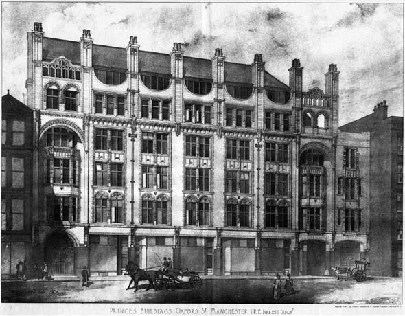1904 &#8211; Princes Buildings, Oxford St., Manchester, Lancashire