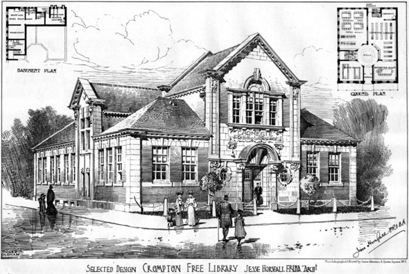 1906 – Crompton Free Library, Manchester, Lancashire