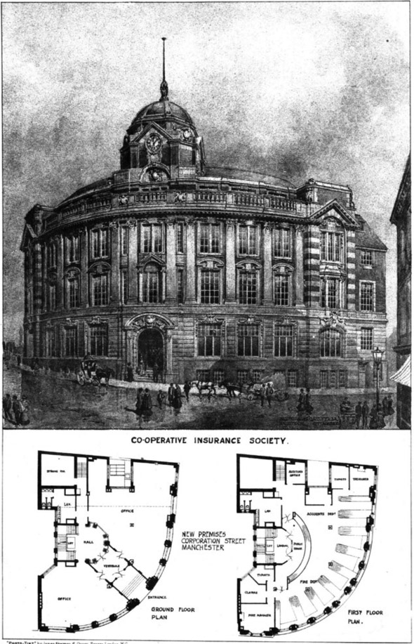 1906 – Co-operative Insurance Society, Corporation Street, Manchester, Lancashire