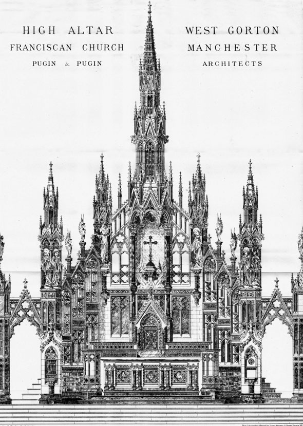 1885 &#8211; High Altar, West Gorton Franciscan Church, Manchester, Lancashire