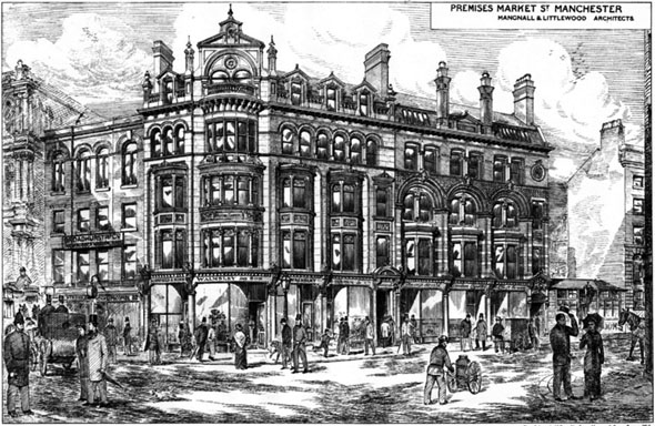 1880 &#8211; Premises, Market Street, Manchester, Lancashire