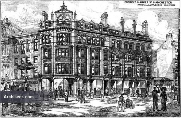 1880 – Premises, Market Street, Manchester, Lancashire