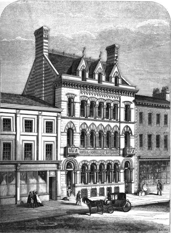 1862 &#8211; Royal Insurance Company, King Street, Manchester, Lancashire