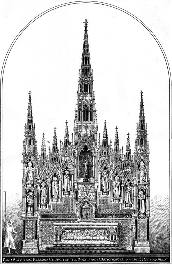 1888 &#8211; High Altar &#038; Reredos, Church of the Holy Name, Manchester