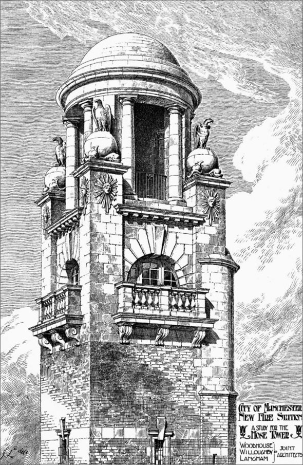 1905 – Hose Tower, London Road Fire Station, Manchester, Lancashire