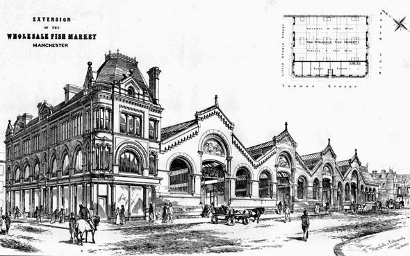 1873 – Wholesale & Fish Markets, Manchester, Lancashire