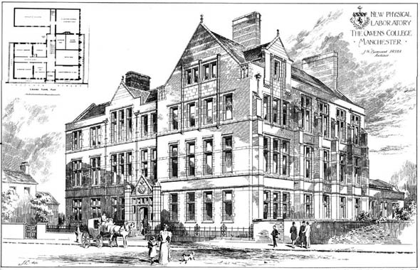1900 – New Physical Laboratory, Owens College, Manchester, Lancashire