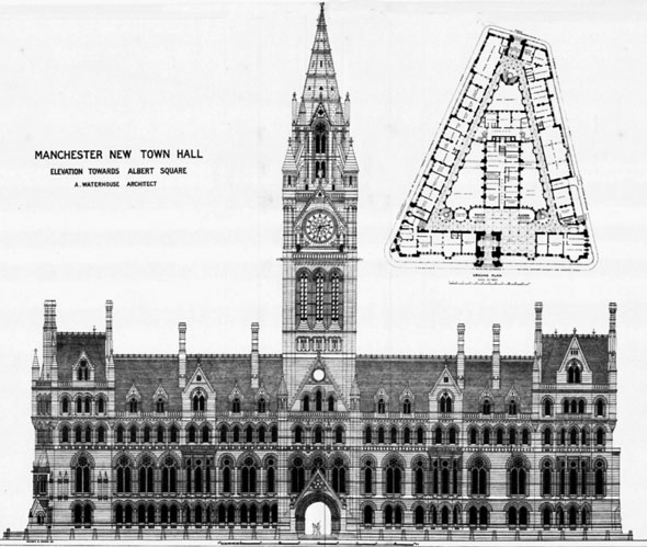 1876 – Manchester Town Hall, Lancashire