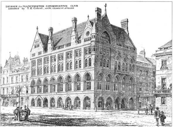 1873 &#8211; Design For Conservative Club, Manchester, Lancashire