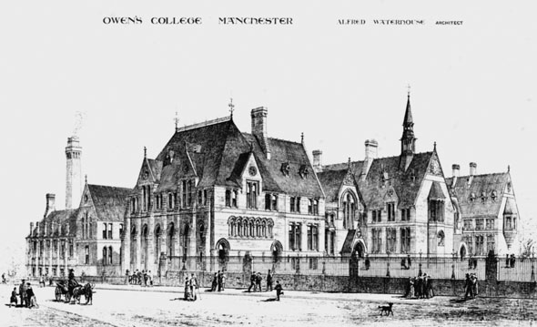 1874 &#8211; Owens College, Manchester, Lancashire