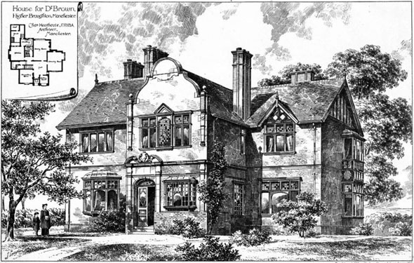1895 &#8211; House for Dr. Brown, Higher Broughton, Manchester