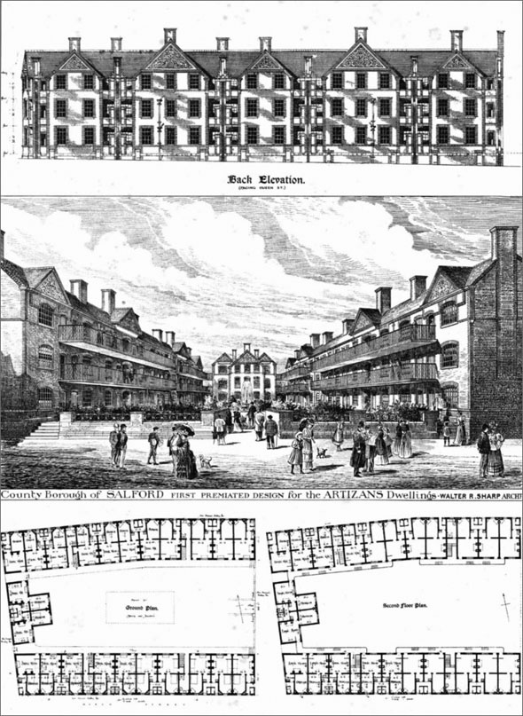 1893 &#8211; Artisans Dwellings, Salford, Manchester