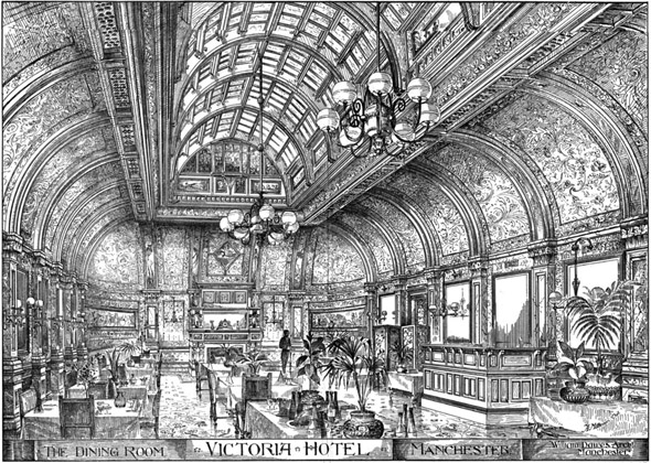 1887 – The Dining Room, Victoria Hotel, Manchester