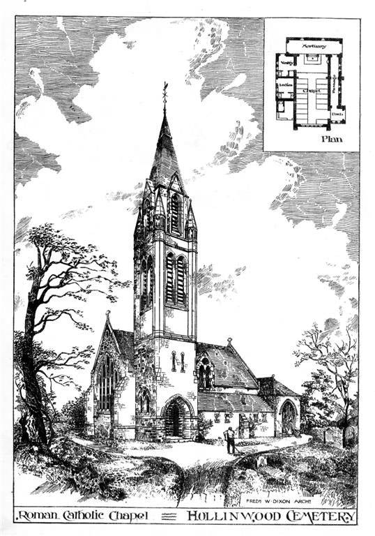 1891 – Roman Catholic Chapel, Hollinwood Cemetery, Lancashire