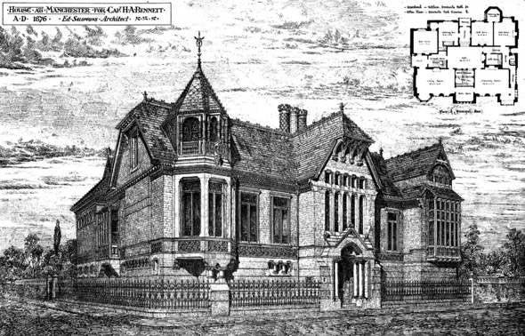 1876 &#8211; House at Manchester, Lancashire