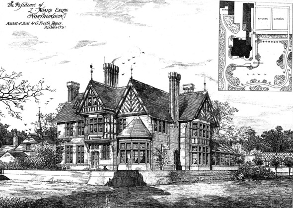 1876 &#8211; House at Northenden, Manchester, Lancashire