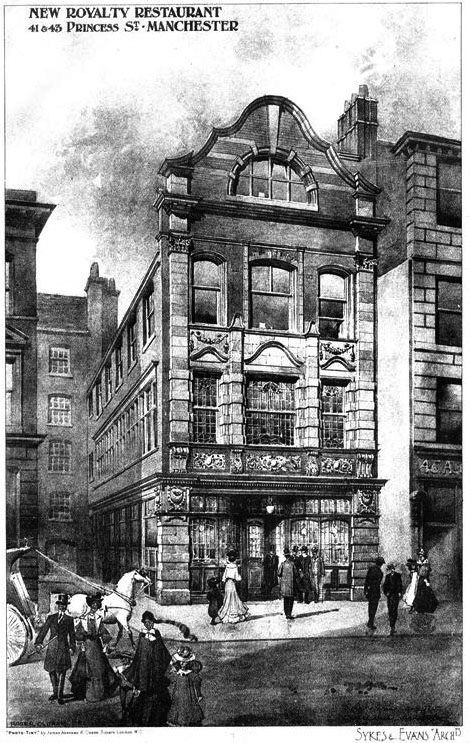1910 – New Royalty Restaurant, Princess Street, Manchester, Lancashire