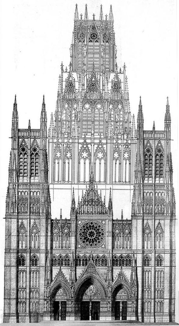 1876 &#8211; Proposed Cathedral, Manchester, Lancashire