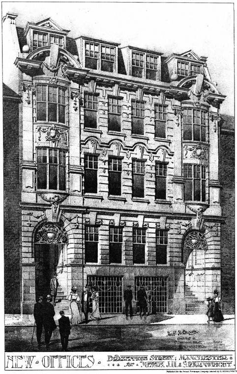 1908 – New Offices, Brazenose Street, Manchester, Lancashire