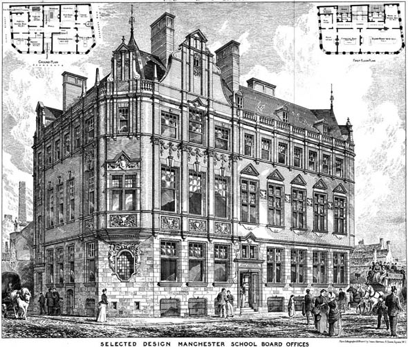1888 – Manchester School Board Offices, Lancashire