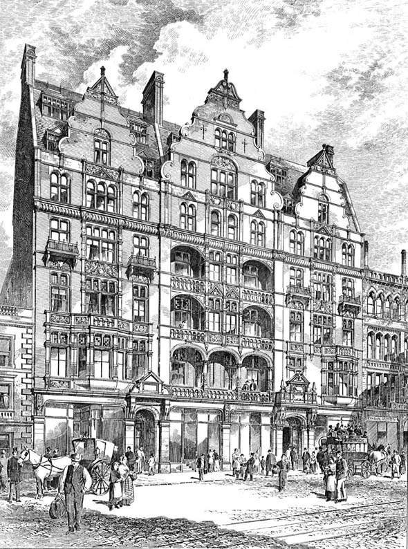 1892 &#8211; Mosley Hotel, Piccadilly, Manchester, Lancashire