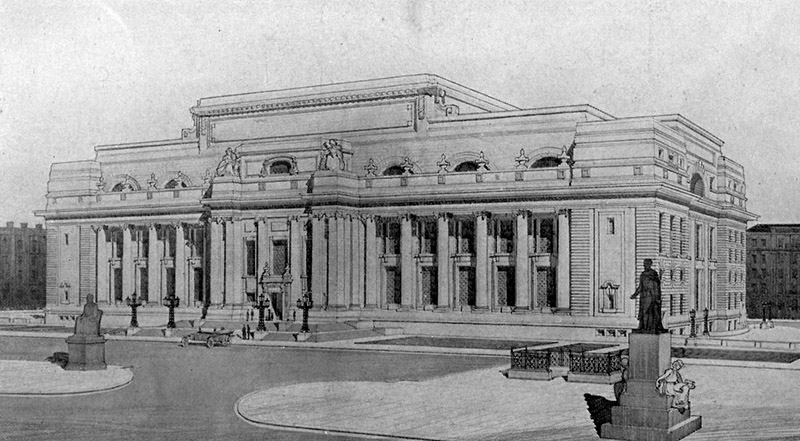1910 – Design for Manchester Art Gallery