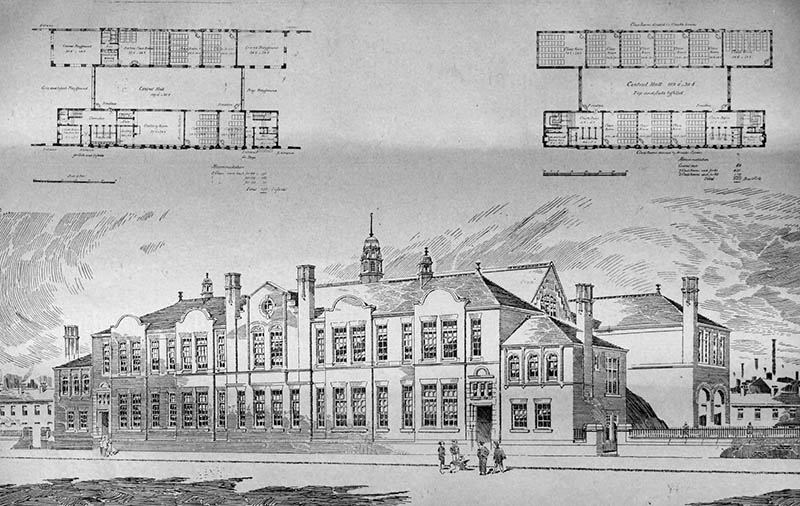 1898 – Holland Street School, Ancoats, Manchester, Lancashire