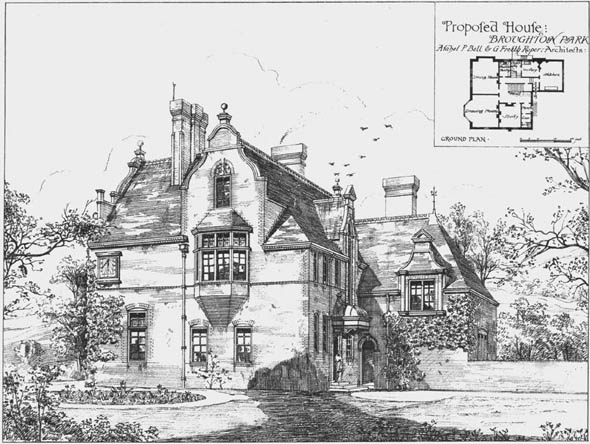 1876 &#8211; Proposed House, Broughton Park, Lancashire