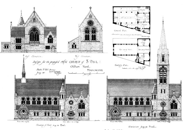 1875 – Church of St. Paul, Oldham Road, Manchester, Lancashire
