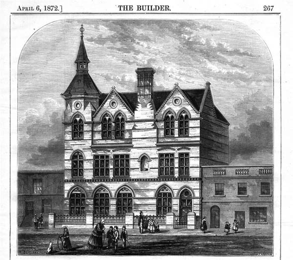 1872 &#8211; Thanet Street New Schools, St. Pancras, London